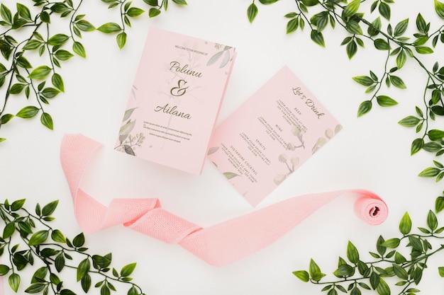 Beautiful wedding concept mock-up