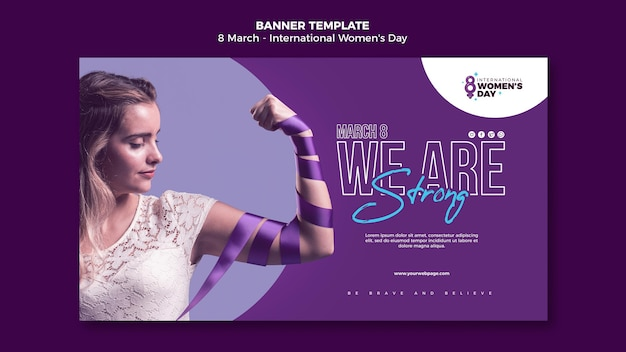 Beautiful women's day banner template