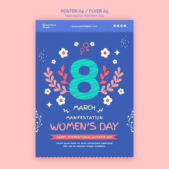 Beautiful women's day flyer template