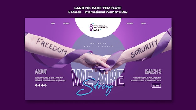 Beautiful women's day landing page