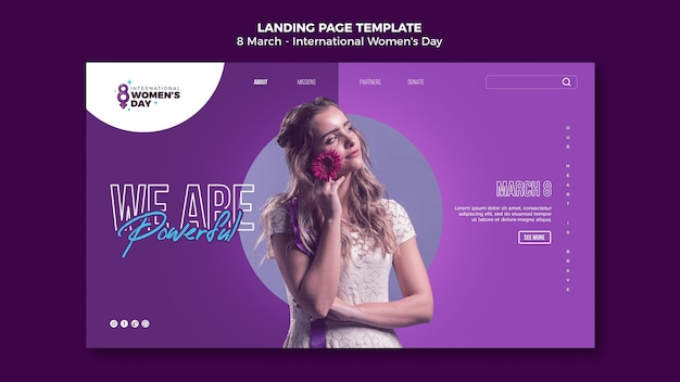 Beautiful women's day landing page