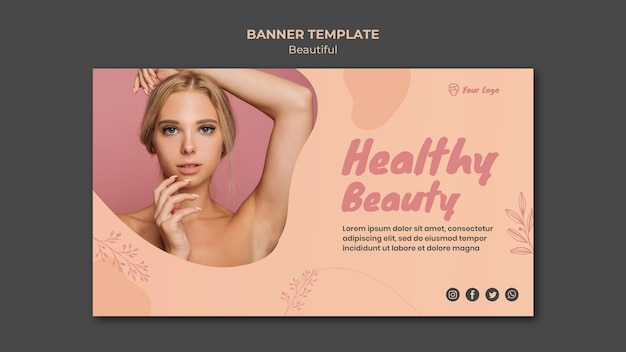 Beauty banner template design