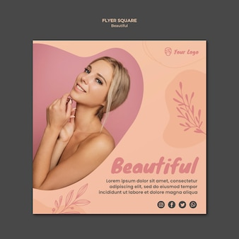 Beauty banner template theme