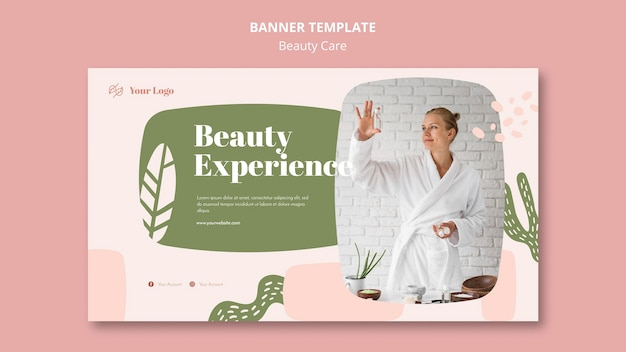 Beauty care banner template