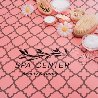 Beauty care and scrubbing process at spa