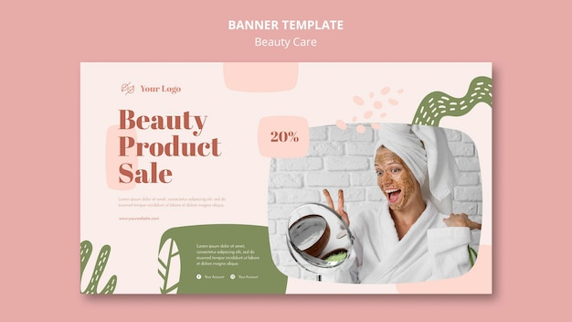 Beauty care template banner