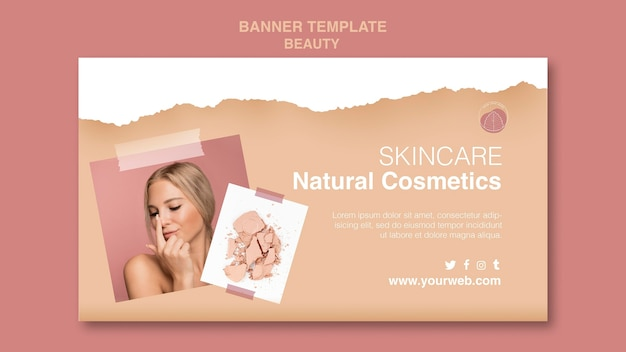 Beauty concept banner template
