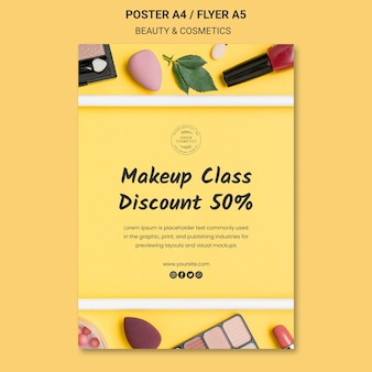 Beauty & cosmetics concept poster template