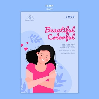 Beauty flyer template illustrated