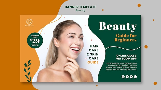 Beauty guide banner template