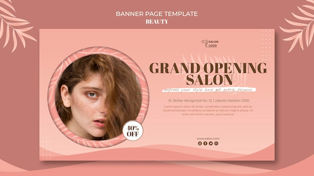 Beauty horizontal banner template