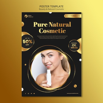 Beauty and natural cosmetics poster