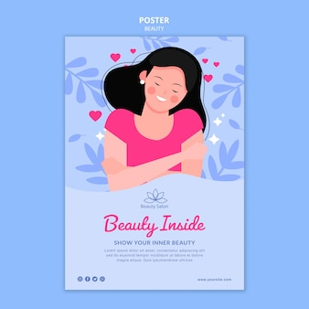 Beauty poster template illustrated