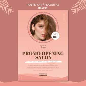 Beauty poster template