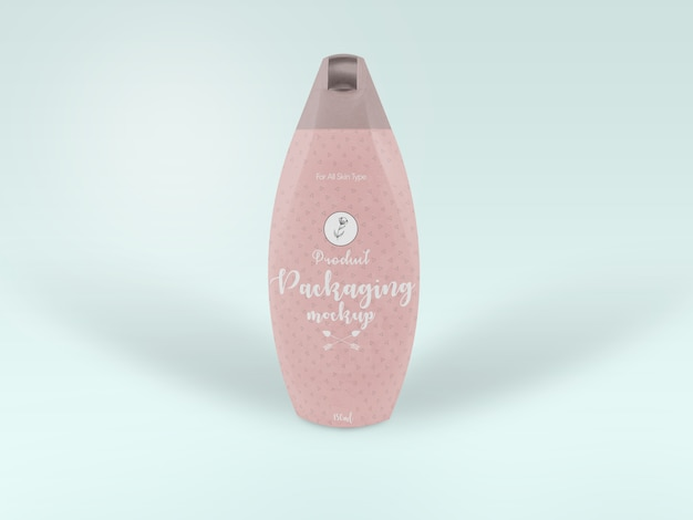 Beauty product bottle packaging mock-up presentation
