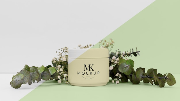 Beauty product cream with plant