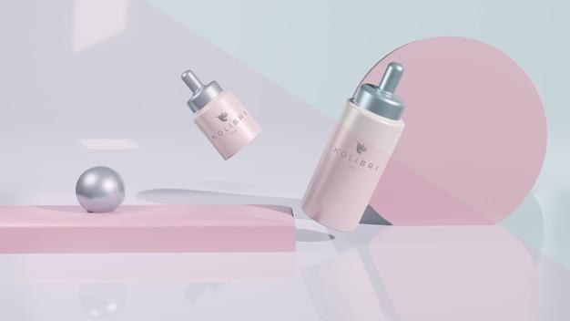 美容製品ロゴタイプモックアップ無料psd