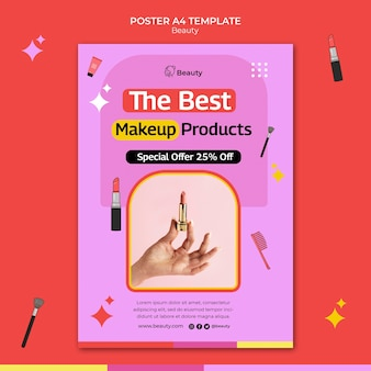 Beauty product vertical print template