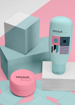 Beauty products mockup