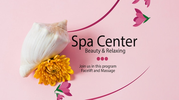 Beauty and relaxing center template