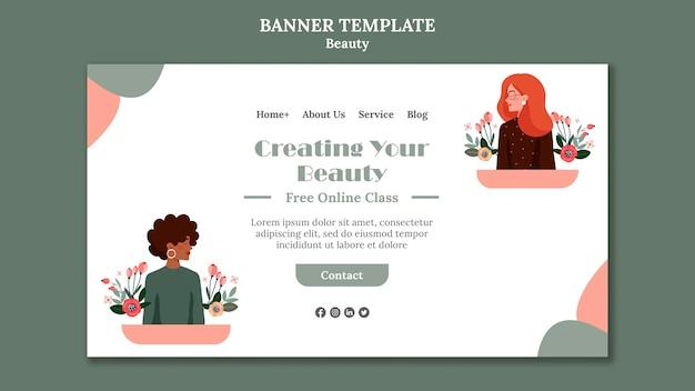 Beauty sale banner template