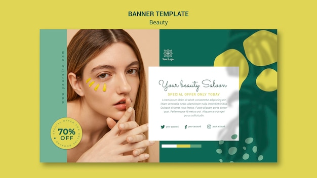 Beauty salon banner template