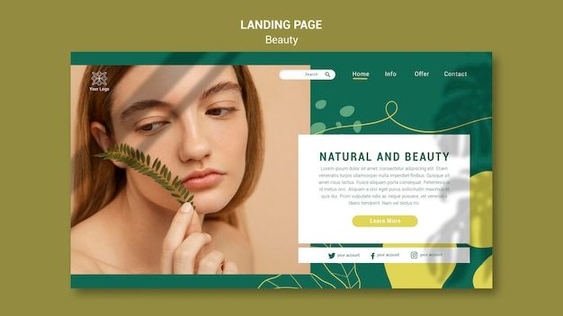Beauty salon landing page