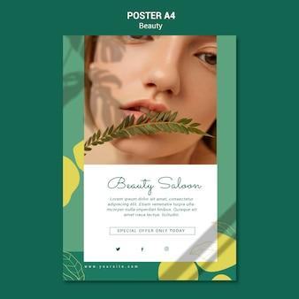 Шаблон плаката салона красоты