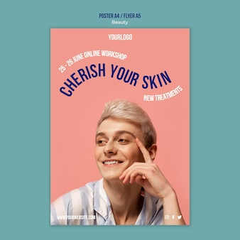 Beauty and skincare product print template