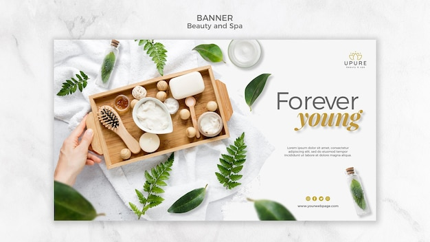 Beauty and spa banner template