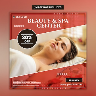Beauty and spa center banner template