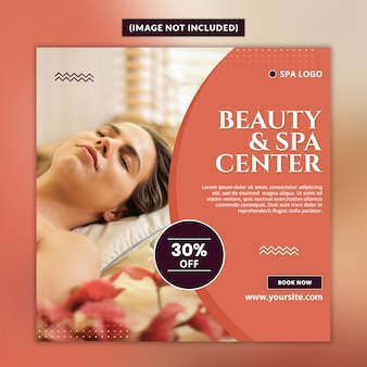 Beauty and spa center social media post banner psd