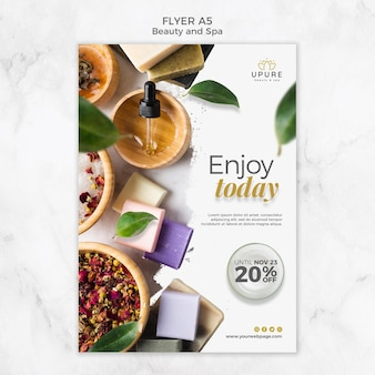 Beauty and spa flyer template