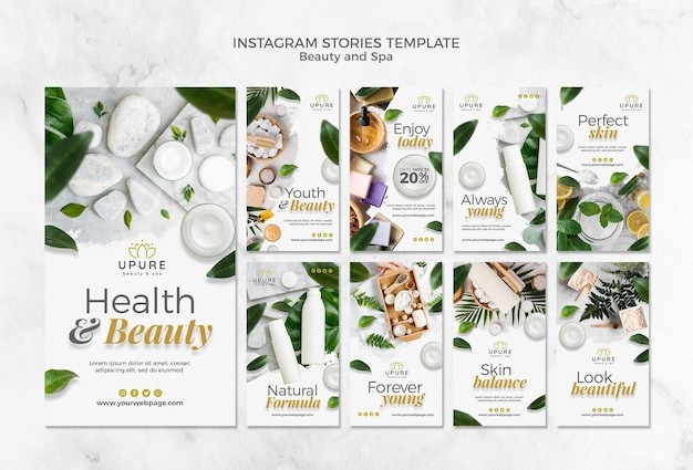 Beauty and spa instagram stories template