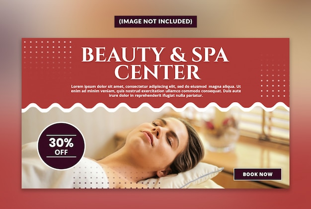 Beauty and spa web banner template