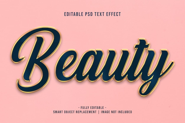 Beauty text effect