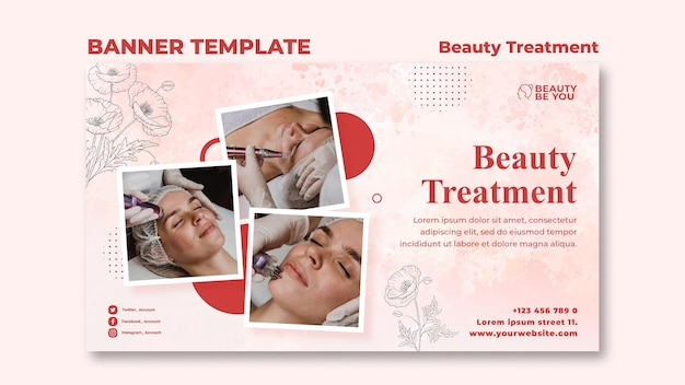Beauty treatment banner