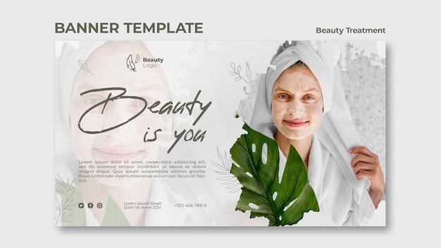 Шаблон баннера концепции косметологического обслуживания