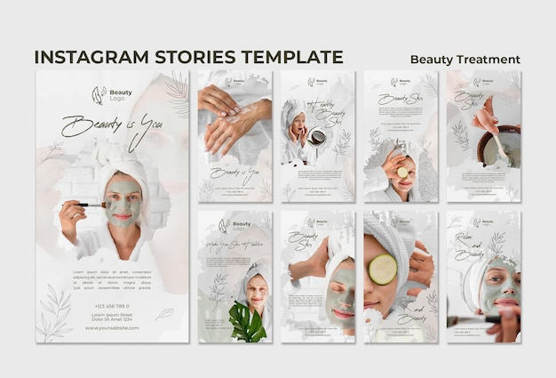 Beauty treatment  concept template