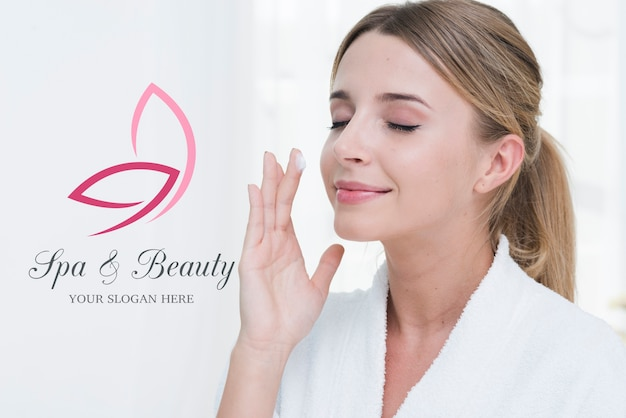 Beauty treatment at spa template