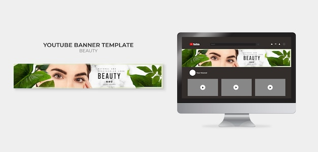Beauty youtube banner template