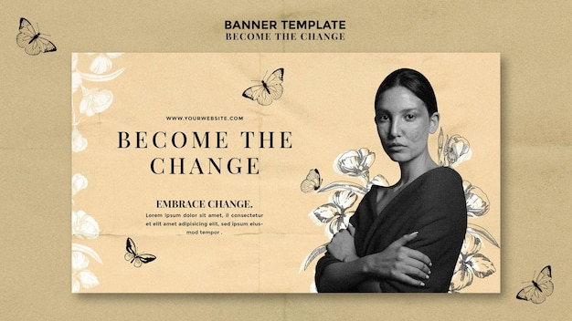 Become the change banner template