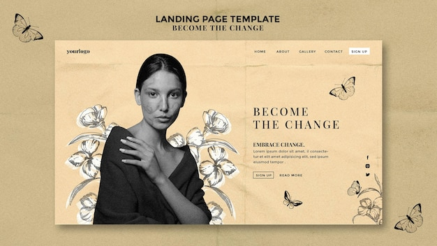 Become the change landing page