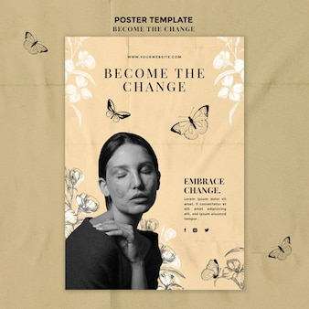 Become the change poster template