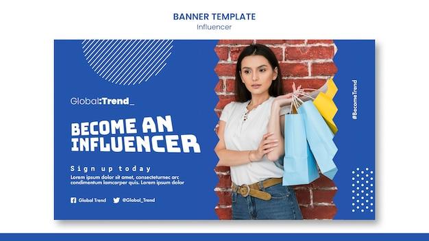 Become an influencer bannertemplate