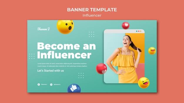 Become an influencer banner template