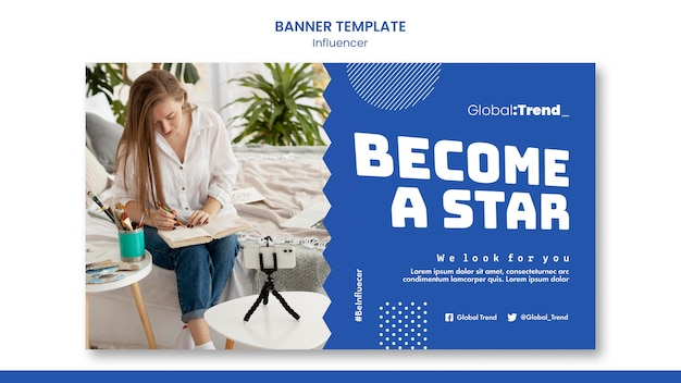 Become a star banner template