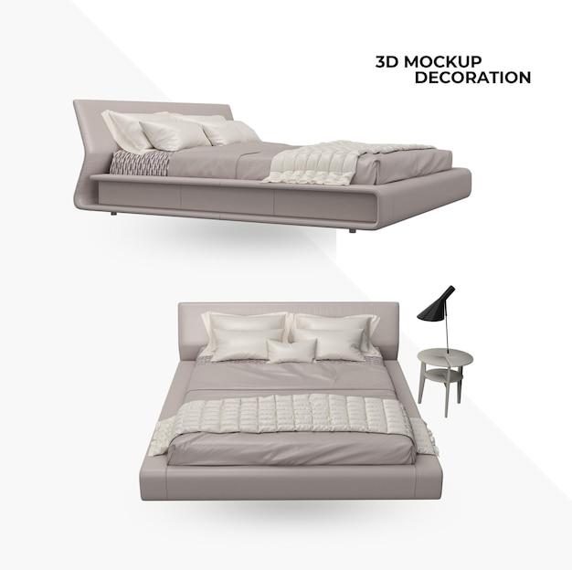 ベッドの装飾とインテリアデザインを分離