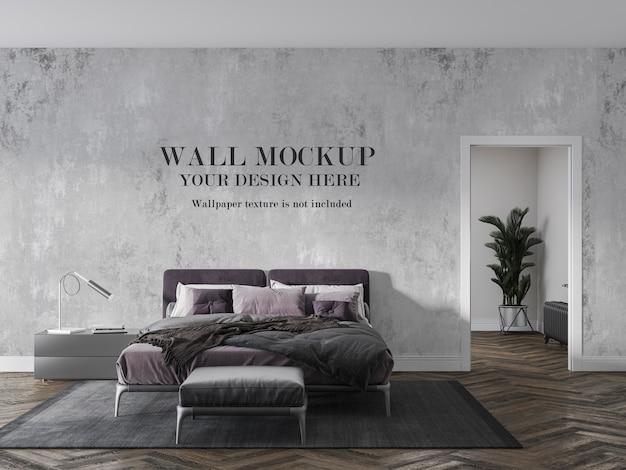 アクセサリーのアイデアと寝室の壁のモックアップ