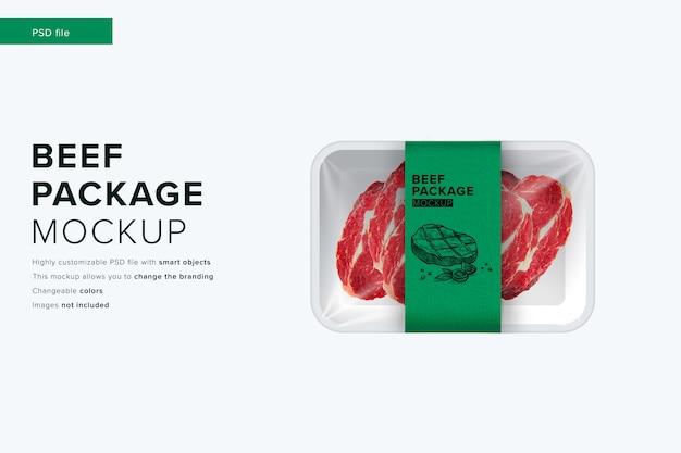 현대적인 디자인 스타일 모형의 쇠고기 패키지 모형